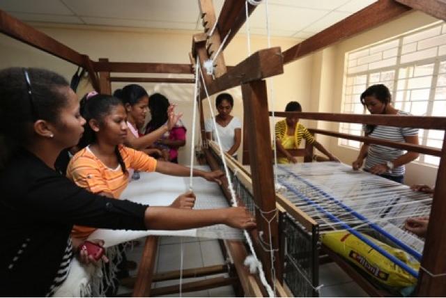 A boost to Aetas Blanket Weaving industry