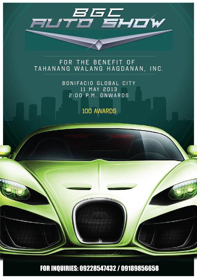 Wheels for Wheels (Benefit) Auto Show on 11 May 2013: Fund-raiser for Tahanang Walang Hagdanan, Inc.