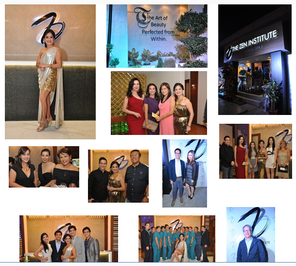1st row: L to R- Dra. MJ Torres / wall art at The Zen Institute QC / Façade of the new Zen Institute QC / Cory Quirino, Korina Sanchez, Veronica Jimenez, Dra. MJ2nd row: L to R- Atty. Gaby Concepcion (middle)/ Franco Laurel, Dra. MJ, Lhar Santiago/ Nelson Canlas, Aubrey Carampel / Franco Laurel, Cory Quirino, Dra. MJ, Giselle Sanchez, Cynthia Carreon3rd row: L to R- Dra Mj and her children / Staff of The Zen Institute/ Mario Dumaual
