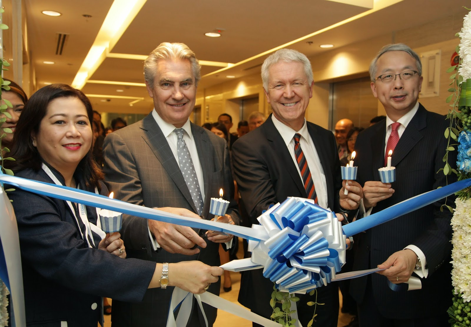Jane Villablanca - GM Ferring PH, Michel Pettigrew - Pres and COO of Ferring, Ivo Sieber - Swiss Ambassador and Alex Chang - Senior Vice President of Ferring Asia Pacific
