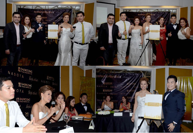 "Launch of ""Experts Journa""l with roster of Doctors who helped Dra. Puyat (bottom right photo, left) developed  the journal and their country brand manager, Mr. Christopher Cachuela, ( bottom right photo,left most)."