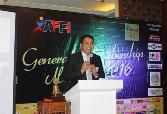 AFFI President Jerry Ilao talks about the association's goal for its members and the entrepreneurial community by 2020.