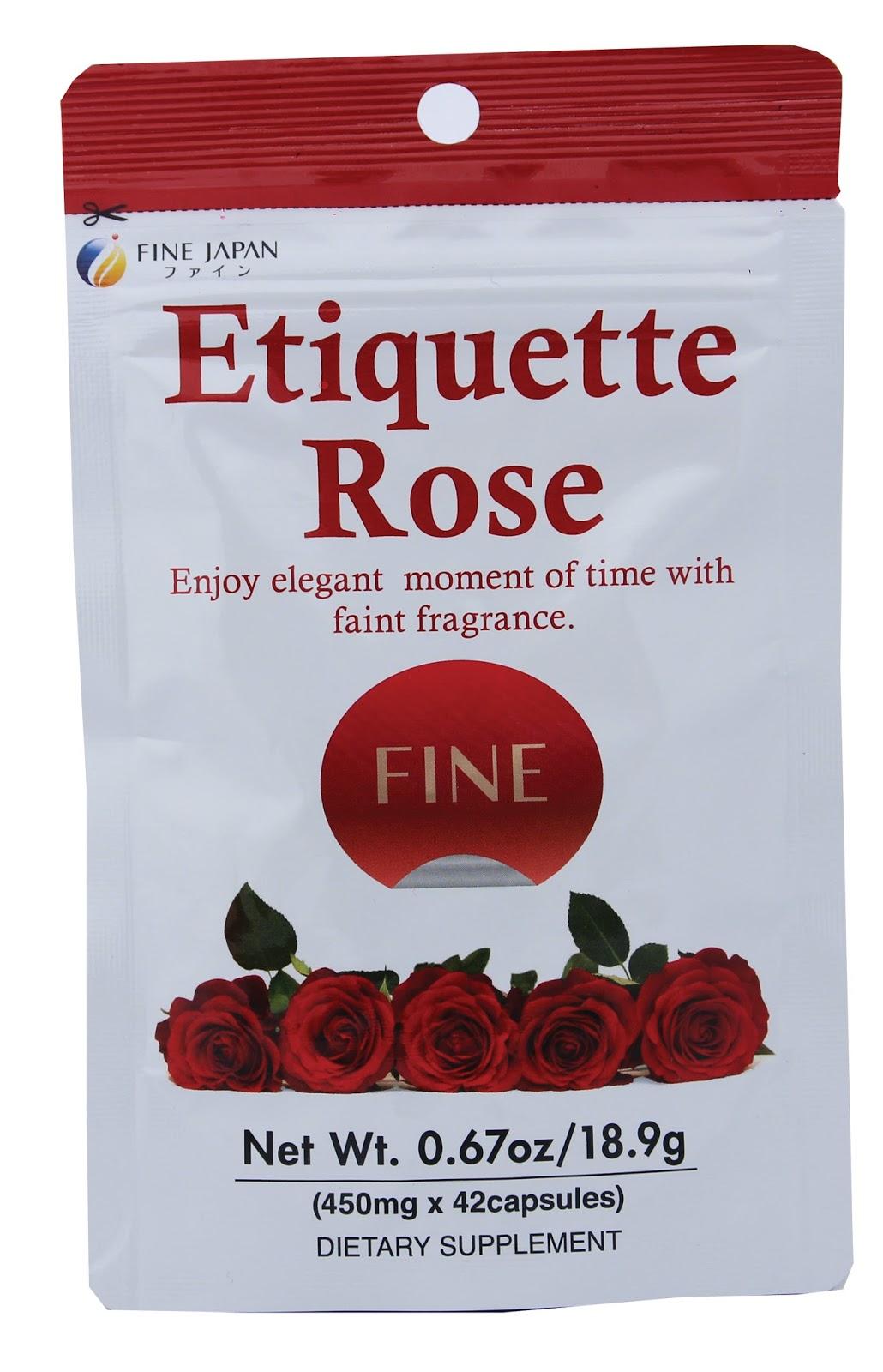 etiquette rose