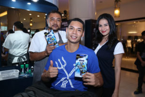 Japeth Aguilar at Shave Off station