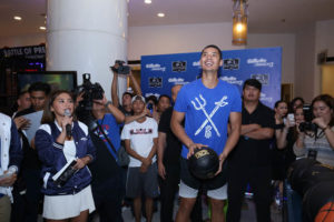 Japeth Aguilar on Gillette Mach 3 10VS1 Battle