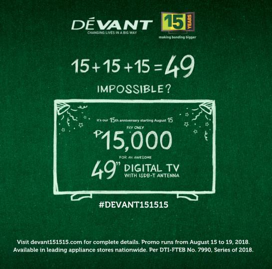 """Devant celebrates with a bang via """"15.15.15"""""""