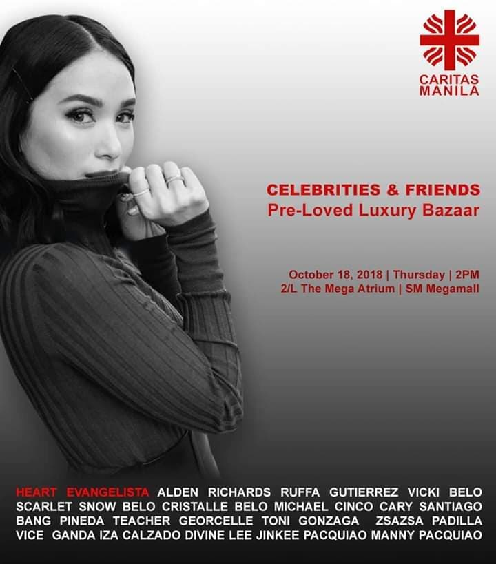 Caritas Manila Holds Celebrity Bazaar on October 18