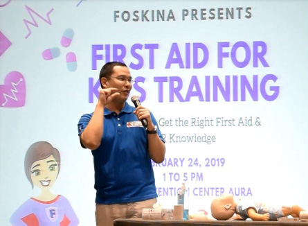 Foskina trains parents with First Aid on Wound Care Management
