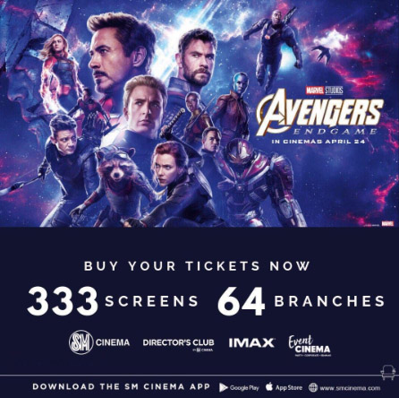 SM Cinema opens 333 screens across 64 branches nationwide for Avengers: Endgame!
