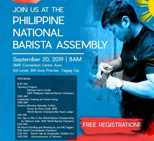 1st PH National Barista Assembly Up this September