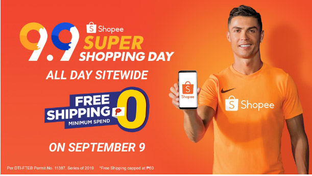 Shopee Sitewide Free Shipping ₱0 Minimum Spend on September 9