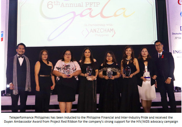Teleperformance Philippines inducted as Philippine Financial and Inter-Industry Pride member, awarded for HIV/AIDS advocacy