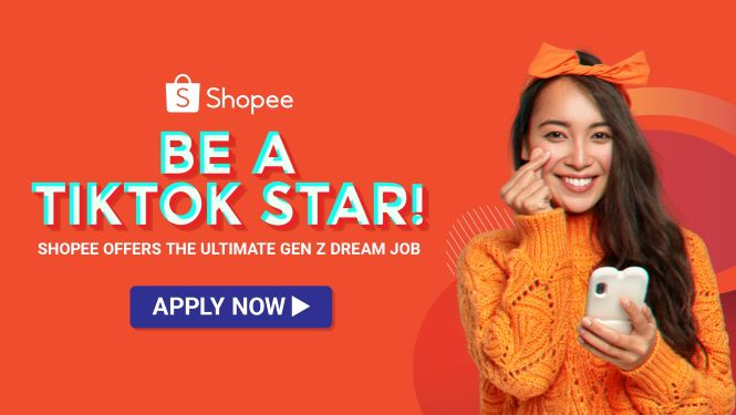 Shopee is looking for a content creator for their TikTok Channel