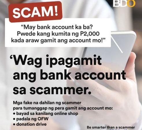 BDO urges vigilance vs latest scam