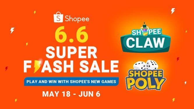 Play Hard & Win Big: Shopee 6.6 Super Flash Sale