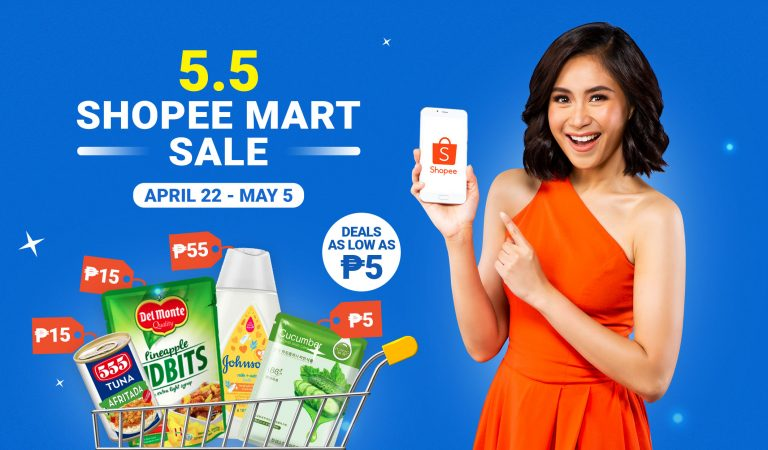 5 Peso Deals and up to 50% Discounts on Shopee Mart's 5.5 Sale