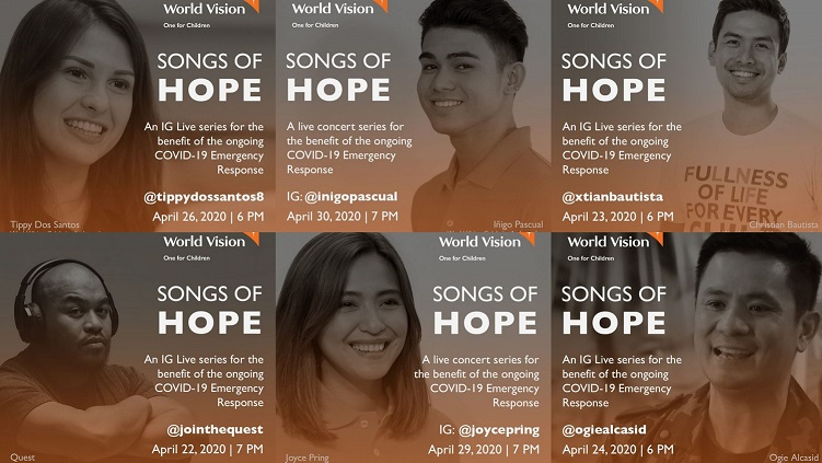 Songs of Hope online concert series to support World Vision's COVID-19 Emergency Response