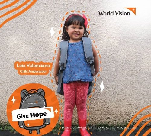 Leia Valenciano takes the lead in inspiring children thru World Vision's Give Hope campaign
