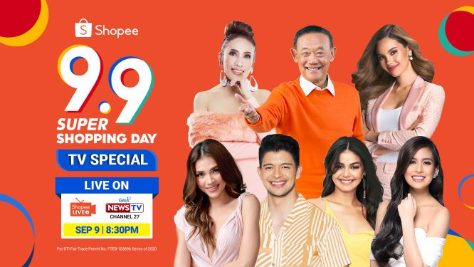 Top GMA Celebrities Joins Shopee's Brand Ambassador Jose Mari Chan at the 9.9 Super Shopping Day Special