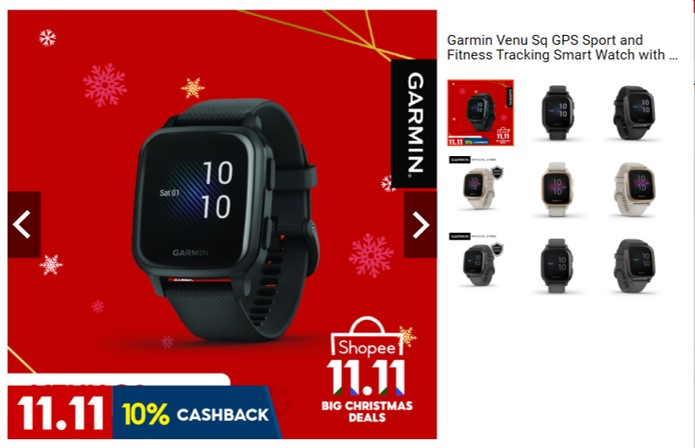 Watch out for the Garmin Venu Sq exclusive launch on Shopee