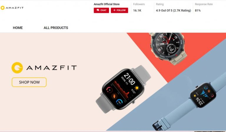 Take a peek at Amazfit Smart Watch Exclusive Lunch on Shopee
