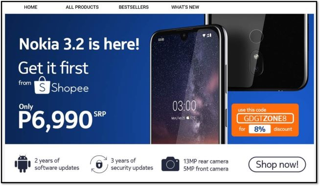 Nokia 3.4 to be exclusively launched via Shopee from Nov 30 to Dec 6