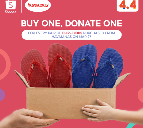 Buy 1, Donate 1 on National Flip-Flop Month with Havaianas
