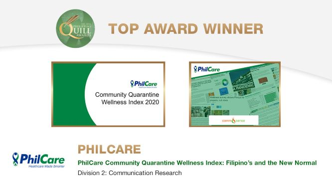 Top HMO PhilCare, big winner at the Philippine Quill Awards