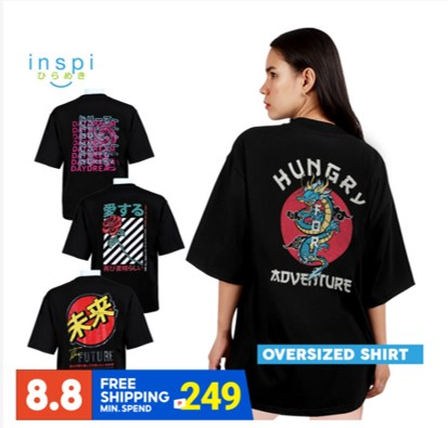 INSPI statement shirts with up to 74% discount on Shopee 8.8 Mega Flash Sale