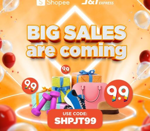 J&T Express offers biggest Double-Day deals of free shipping and discounts vouchers via Shopee