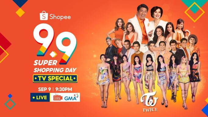 WATCH OUT TODAY! 9.9 Super Shopping Day TV Special with K-Pop Stars TWICE and  up to ₱11 Million worth of prizes