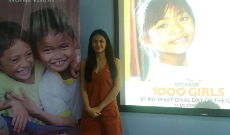 """Sayaha"" star Bianca Umali advocates World Vision's  1,000 Girls campaign"