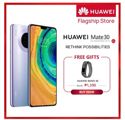 Huawei phone and accessories available with up to 40% discount via Shopee