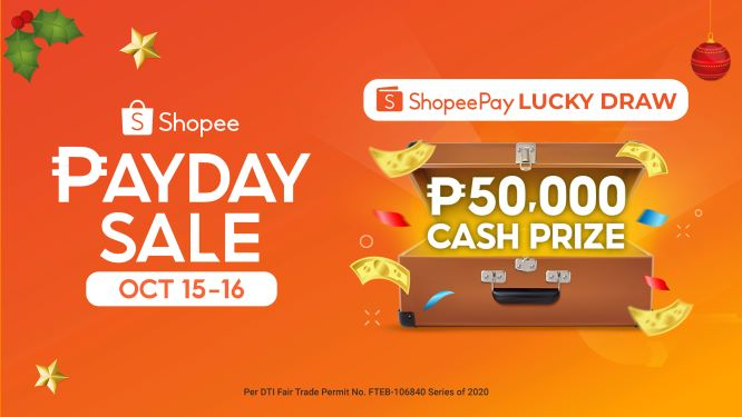 Get a Chance to Win ₱50,000 this Shopee Payday Sale