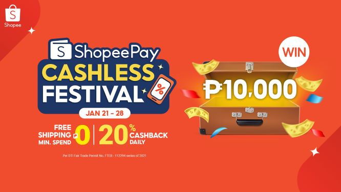 Top Up, Transfer and get a Chance to Win ₱10,000 via ShopeePay Cashless Festival