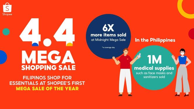 Shopee Allows Filipinos to Buy Essentials Safely and Conveniently during 4.4 Mega Shopping Sale