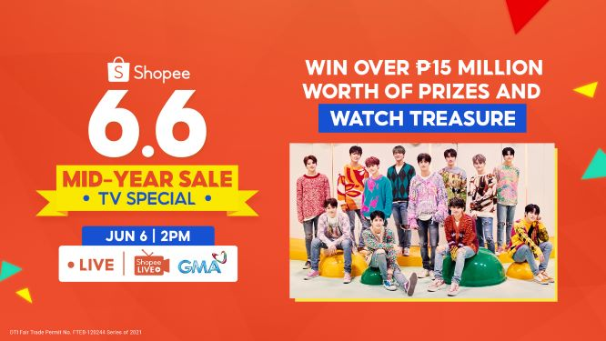 Shopee 6.6-7.7 Mid-Year Sale TV Special: Win ₱15 Million Worth of Prizes with Rising K-Pop Act Treasure