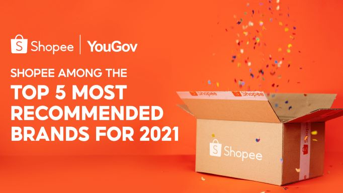 Shopee Rises Up the Ranks in YouGov's 2021 Most Recommended Brands