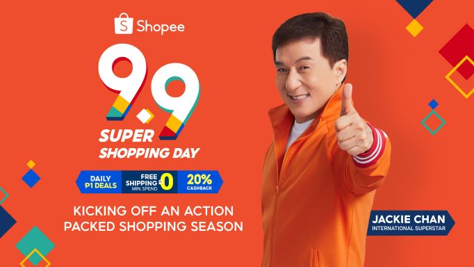 Shopee Kicks off 9.9 Super Shopping Day with International Action Superstar Jackie Chan